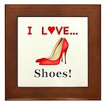 I Love Shoes Framed Tile
