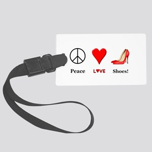 Peace Love Shoes Large Luggage Tag