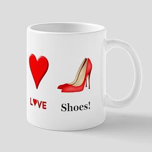 Peace Love Shoes Mug