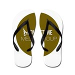 Brownstone MG Logo Flip Flops