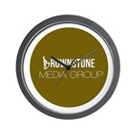 Brownstone MG Logo Wall Clock