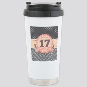 17th Anniversary Gift C Stainless Steel Travel Mug