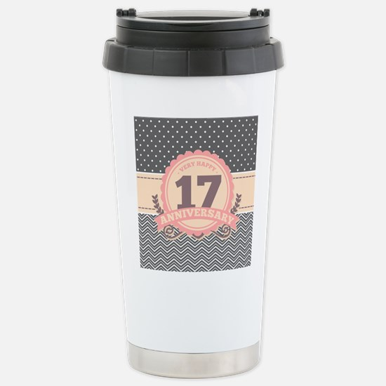 17th Anniversary Gift C Stainless Steel Travel Mug
