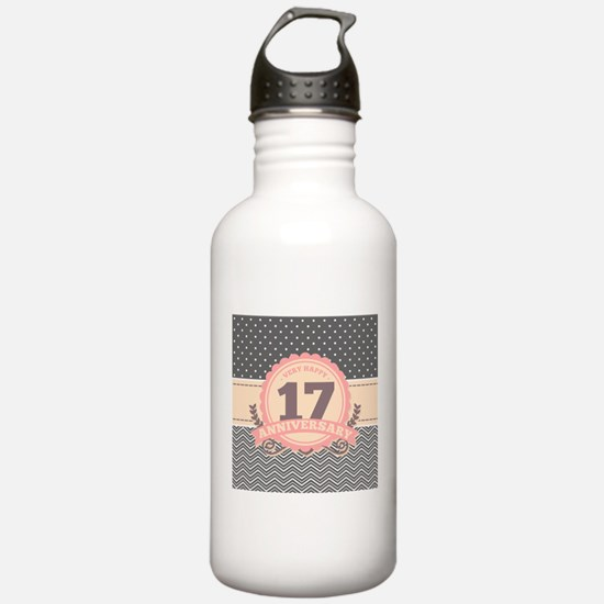 17th Anniversary Gift Water Bottle