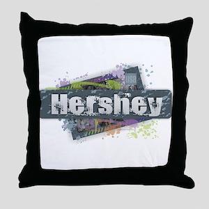 Hershey Design Throw Pillow
