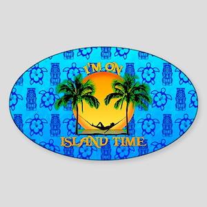 Island Tiki Time Sticker