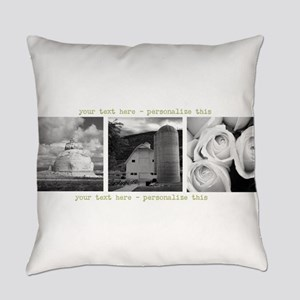 Your Artwork and Text here Everyday Pillow