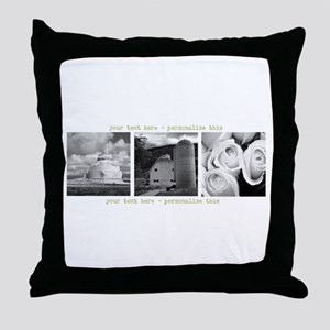 Your Artwork and Text here Throw Pillow