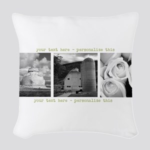 Your Artwork and Text here Woven Throw Pillow