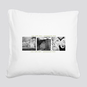 Your Artwork and Text here Square Canvas Pillow