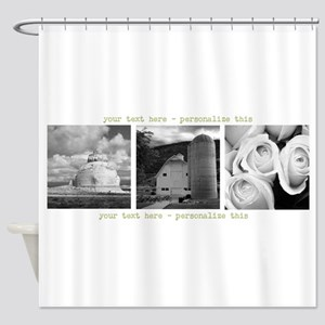 Your Artwork and Text here Shower Curtain