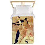 Vintage couple dancers Twin Duvet