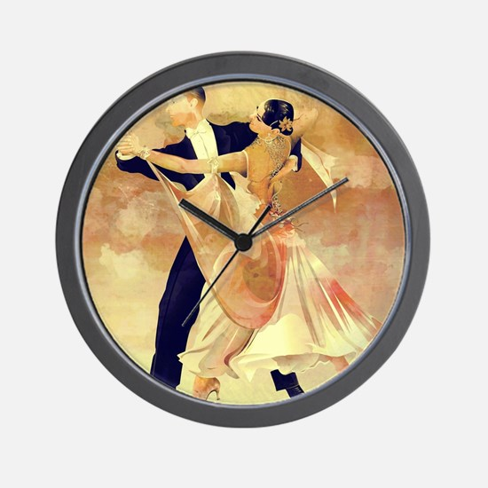Vintage couple dancers Wall Clock