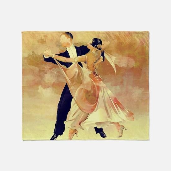 Vintage couple dancers Throw Blanket