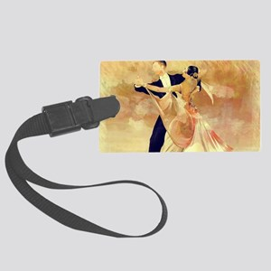 Vintage couple dancers Large Luggage Tag