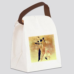 Vintage couple dancers Canvas Lunch Bag