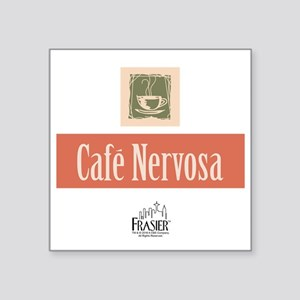 "Frasier: Cafe Nervosa Square Sticker 3"" x 3"""