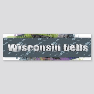Wisconsin Dells Design Bumper Sticker