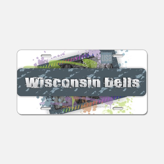 Wisconsin Dells Design Aluminum License Plate