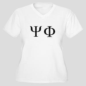 Psi Phi Women's Plus Size V-Neck T-Shirt