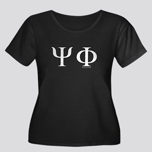 Psi Phi Women's Plus Size Scoop Neck Dark T-Shirt