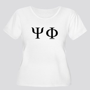 Psi Phi Women's Plus Size Scoop Neck T-Shirt