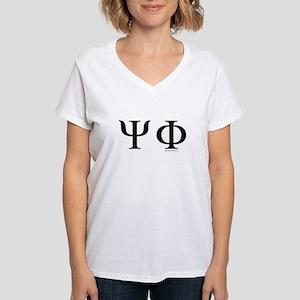 Psi Phi Women's V-Neck T-Shirt
