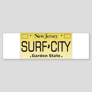 Surf City NJ Tag Giftware Bumper Sticker