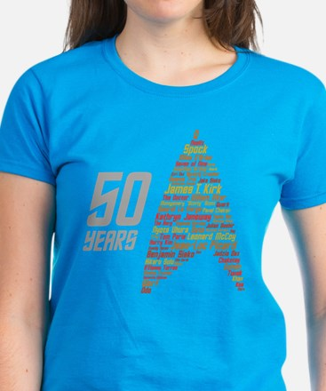 50 Years Captain Names Women's Dark T-Shirt