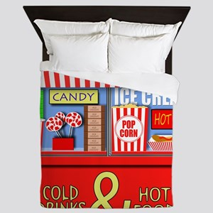Movie Theater Concessions Stand Queen Duvet