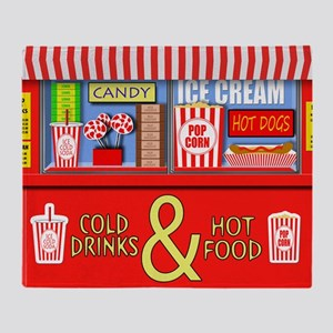 Movie Theater Concessions Stand Throw Blanket