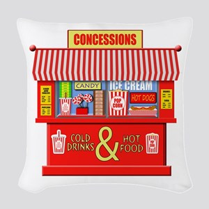 Movie Theater Concessions Stan Woven Throw Pillow
