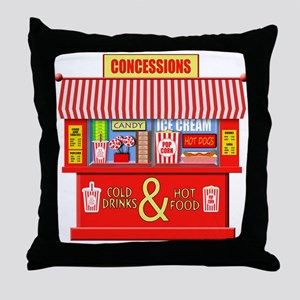 Movie Theater Concessions Stand Throw Pillow