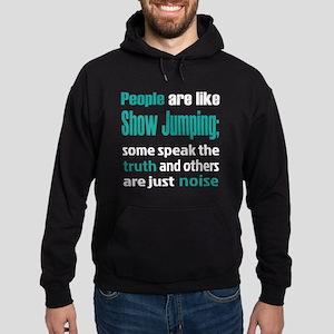 People are like Show Jumping Hoodie (dark)