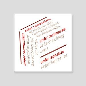 Communism and Capitalism Sticker