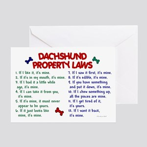 Dachshund Property Laws 2 Greeting Card