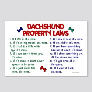 Dachshund Property Laws 2 Postcards (Package of 8)