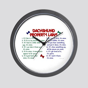 Dachshund Property Laws 2 Wall Clock