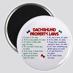 Dachshund Property Laws 2 Magnet