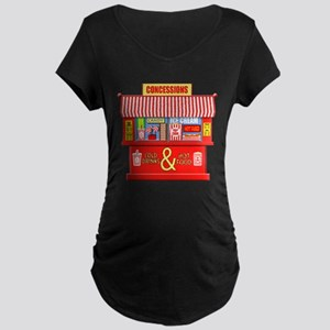 Movie Theater Concessions Stand Maternity T-Shirt