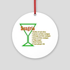 Sangria Ornament (Round)