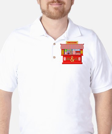 Movie Theater Concessions Stand Golf Shirt