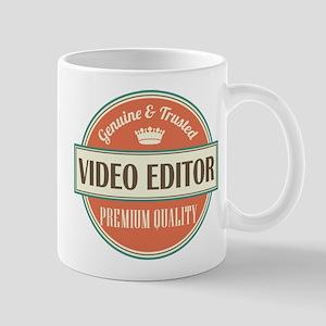 video editor vintage logo Mug