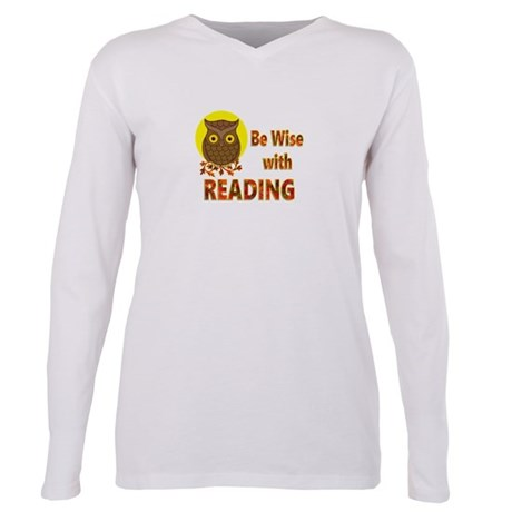 Be Wise With Reading Plus Size Long Sleeve Tee