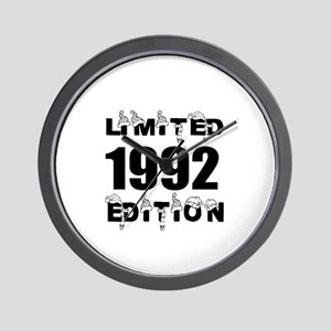 Limited 1992 Edition Birthday Designs Wall Clock