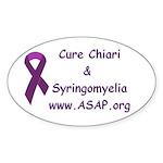 Chiari/Syringomyelia Oval Sticker