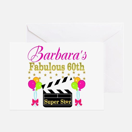 STYLISH 60TH Greeting Card