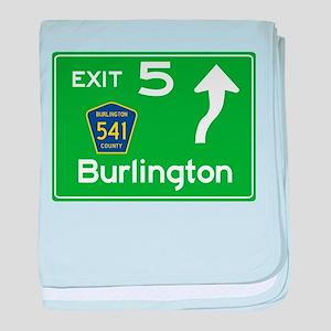 NJTP Logo-free Exit 5 Burlington baby blanket