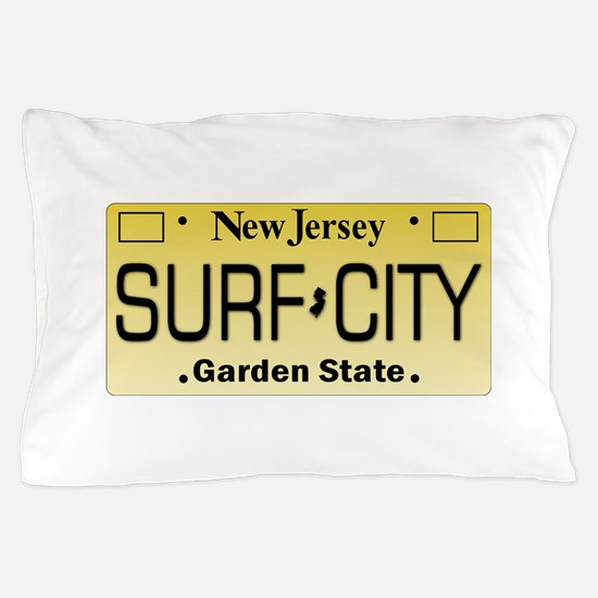 Surf City NJ Tag Giftware Pillow Case