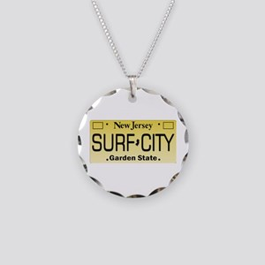 Surf City NJ Tag Giftware Necklace Circle Charm